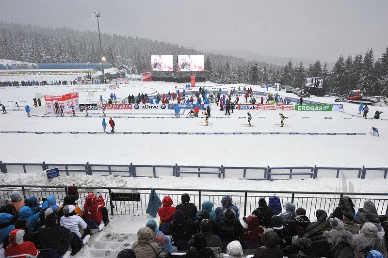 Биатлонный стадион в Оберхофе